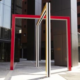 À partir de la grande porte, tout le parvis: travail in situ Tokyo 2015/2016 | Daniel Buren